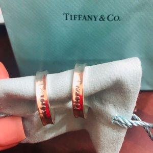 Tiffany & Co 1837 One inch hoop Earrings